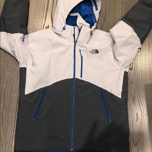 North Face All Weather Jacket, XL, Grey/Blue